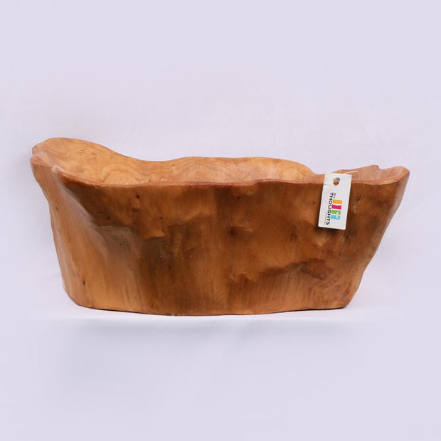 Raw Natural Wooden Bowl