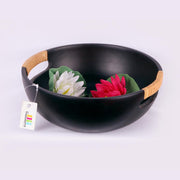 Rattan Weaved Handle Black Bowl