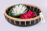 Rattan Weaved Black Bowl
