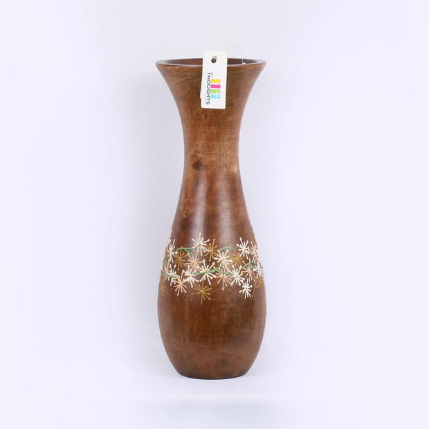 Natural Wood Star Vase