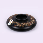 Jet Black Wooden Star Pot 2