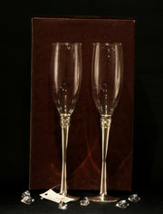 Champagne Glasses (Crystals with Polished Flute)