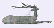 Seated Brass Deer
