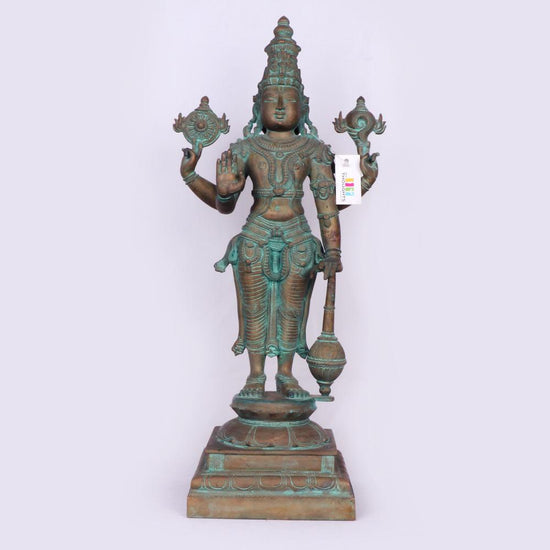 Lord Vishnu In Bronze