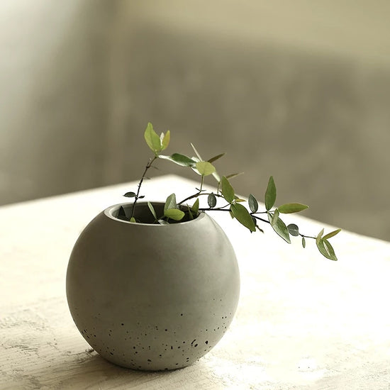 Spherical  Concrete Flower Pot