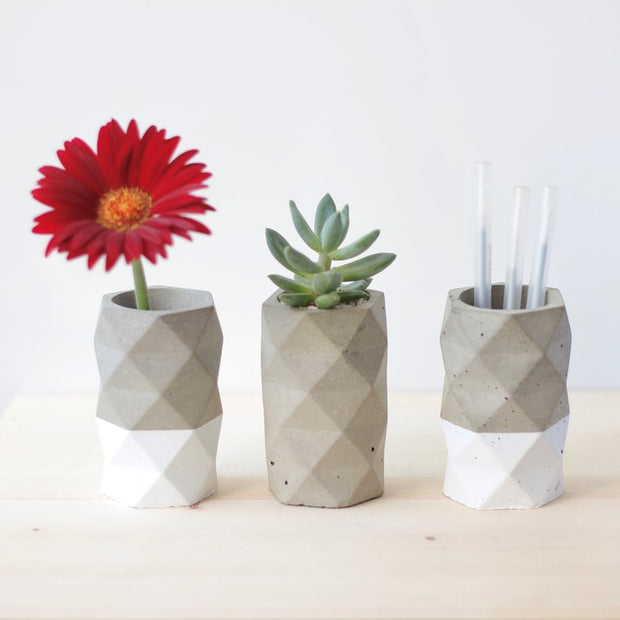 Geometric Vase or Pen Holder