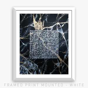 PROTECTION - BLACK MARBLE | PRINT