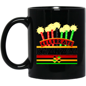 CELEBRATE KWANZAA  11 oz. Black Mug