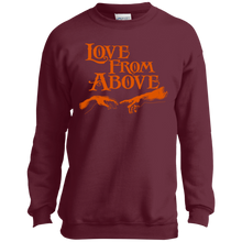 LOVE FROM ABOVE [BRONZE] Youth Crewneck Sweatshirt (various colors)