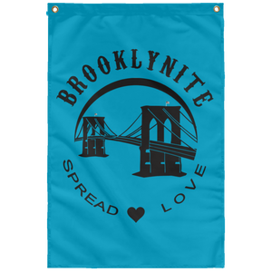 BROOKLYNITE [SPREAD LOVE] Wall Flag (various colors)