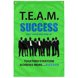 T.E.A.M. SUCCESS [RISE UP] Wall Flag (various colors)