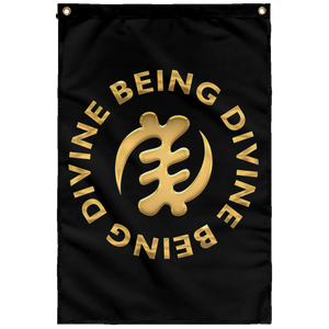 DIVINE BEING BEING DIVINE Wall Flag
