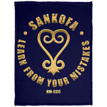SANKOFA - LEARN FROM YOUR MISTAKES Baby Velveteen Micro Fleece Blanket - 30x40 (various colors)