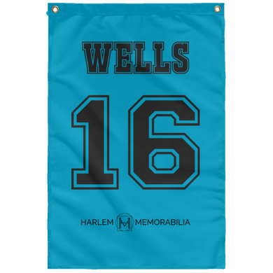 WELLS 16 Wall Flag (various colors)