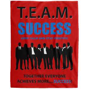 T.E.A.M. SUCCESS [STAY POSITIVE] Extra Large Velveteen Micro Fleece Blanket - 60x80 (various colors)