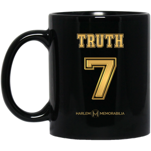 HARLEM MEMORABILIA [GOLD] - TRUTH 7 11 oz. Black Mug