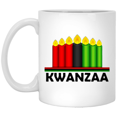 KWANZAA CANDLES 11 oz. White Mug