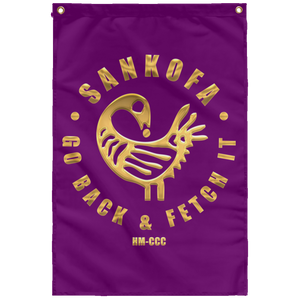 SANKOFA - GO BACK & FETCH IT Wall Flag