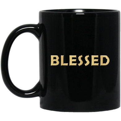 BLESSED 11 oz. Black Mug