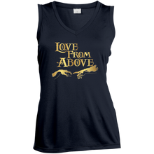 LOVE FROM ABOVE [GOLD] Ladies' Sleeveless Moisture Absorbing V-Neck (various colors)