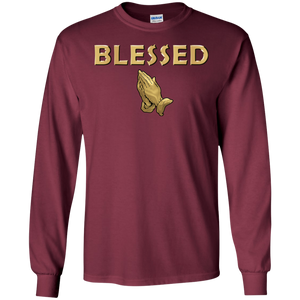 BLESSED WITH PRAYER HANDS LS (various colors)