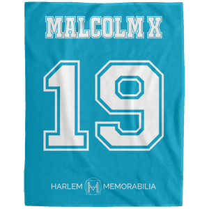 MALCOLM X 19 Extra Large Velveteen Micro Fleece Blanket - 60x80 (various colors)
