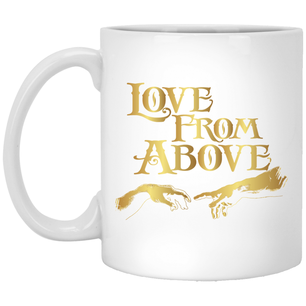 LOVE FROM ABOVE [GOLD] 11 oz. White Mug