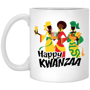 HAPPY KWANZAA SISTERS 11 oz. White Mug