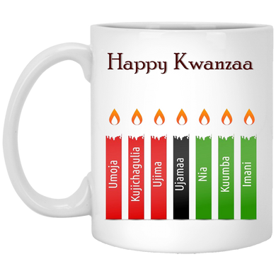HAPPY KWANZAA 7 PRINCIPLES 11 oz. White Mug