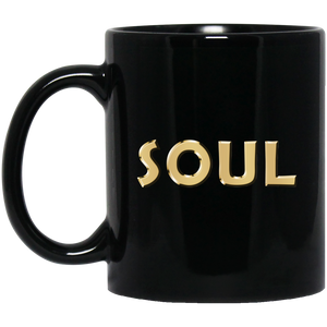 SOUL [GOLD] 11 oz. Black Mug