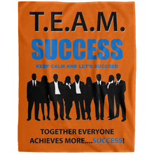 T.E.A.M. SUCCESS [LET'S SUCCEED] Extra Large Velveteen Micro Fleece Blanket - 60x80 (various colors)