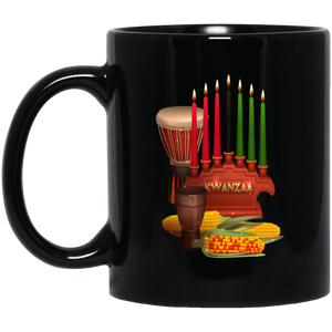 KWANZAA 11 oz. Black Mug