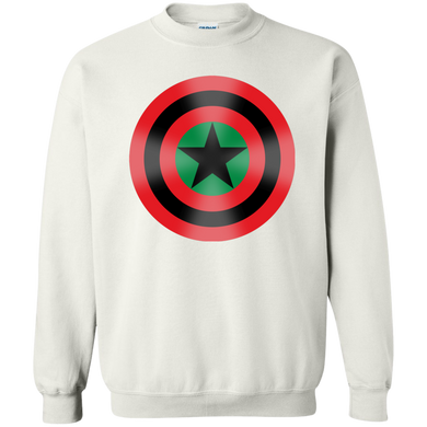 BLACK STAR SHIELD [GLOW] Sweatshirt  8 oz.