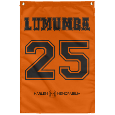 LUMUMBA 25 Wall Flag (various colors)