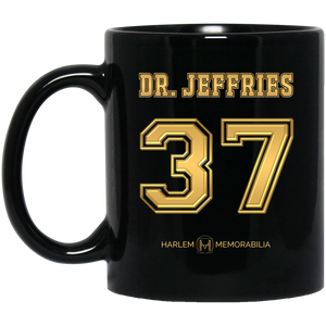 HARLEM MEMORABILIA [GOLD] - DR. JEFFRIES 37 11 oz. Black Mug