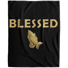 BLESSED WITH PRAYER HANDS Extra Large Velveteen Micro Fleece Blanket - 60x80 (various colors)