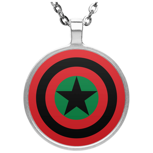 BLACK STAR SHIELD Necklace