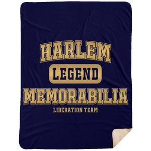 HARLEM MEMORABILIA [GOLD] Extra Large Fleece Sherpa Blanket - 60x80 (various colors)