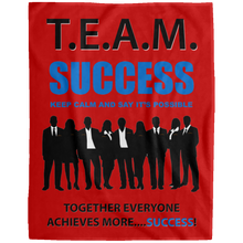 T.E.A.M. SUCCESS [SAY IT'S POSSIBLE] Extra Large Velveteen Micro Fleece Blanket - 60x80 (various colors)