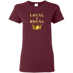 LOYAL AND ROYAL Ladies' 5.3 oz. T-Shirt (various colors)