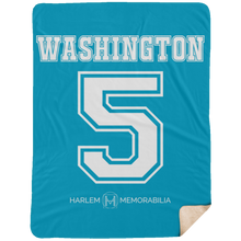 WASHINGTON 5 Extra Large Fleece Sherpa Blanket - 60x80 (various colors)