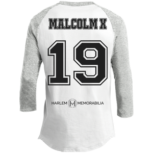 HARLEM MEMORABILIA - MALCOLM X 19 Sporty T-Shirt [2 Sided] (various colors)