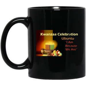 KWANZAA CELEBRATION - UBUNTU  11 oz. Black Mug
