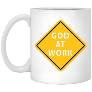 GOD AT WORK 11 oz. White Mug