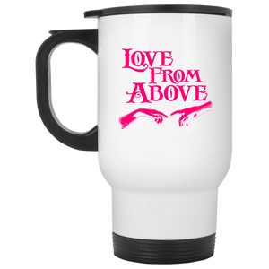 LOVE FROM ABOVE [PINK] White Travel Mug