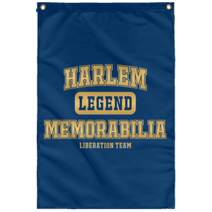 HARLEM MEMORABILIA LEGEND [GOLD] Wall Flag (various colors)
