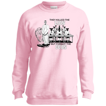 MALCOLM X - LION AND CUBS Youth Crewneck Sweatshirt (various colors)