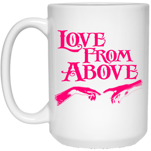 LOVE FROM ABOVE [PINK] 15 oz. White Mug