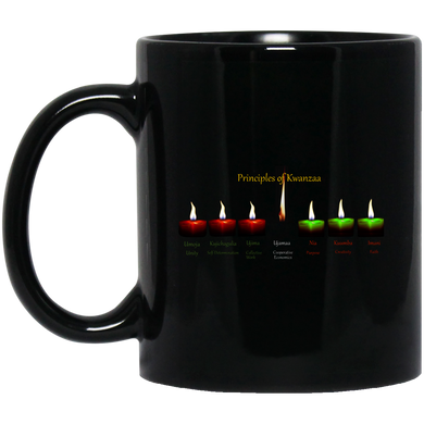 PRINCIPLES OF KWANZAA  11 oz. Black Mug