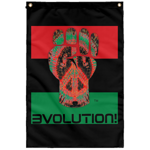 POWER FIST - LOVEUTION [RBG] Wall Flag (various colors)